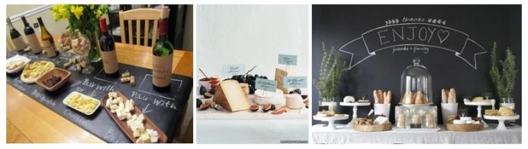 Mesa para queijos