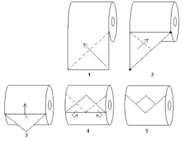 Origami de Papel Higiênico 02