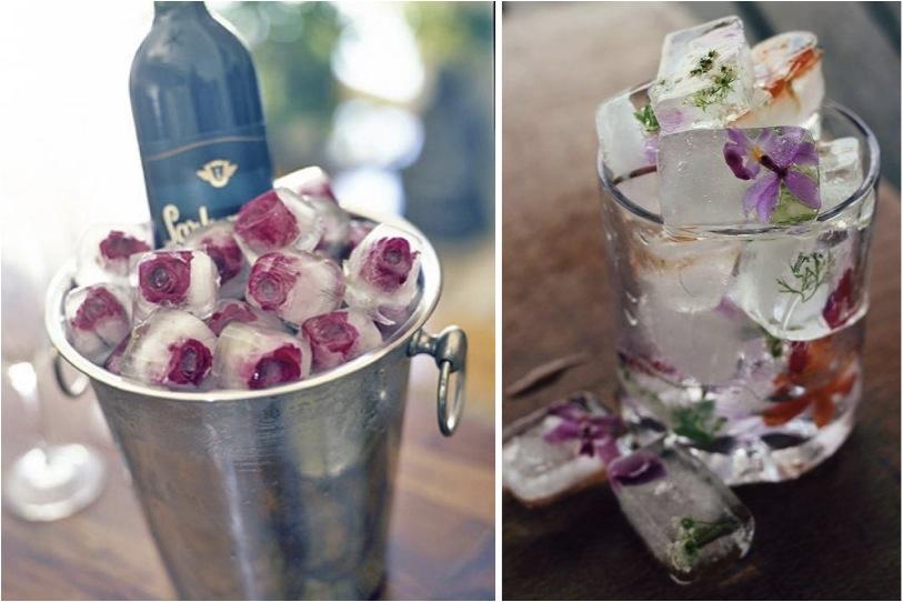 Resultado de imagem para gelo com flores