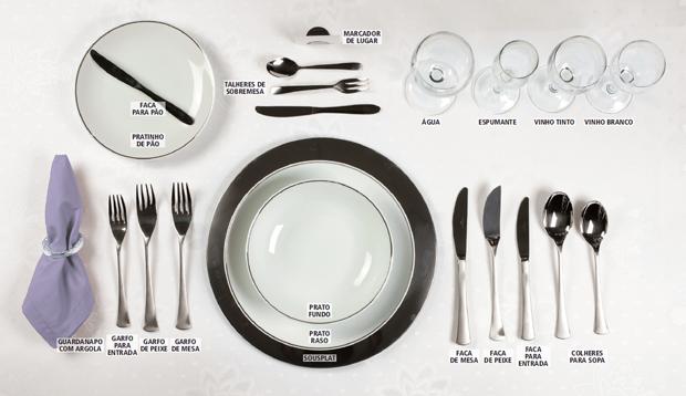 mesa para jantar à francesa