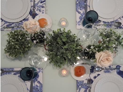 Mesa Azul e branco_detalhe