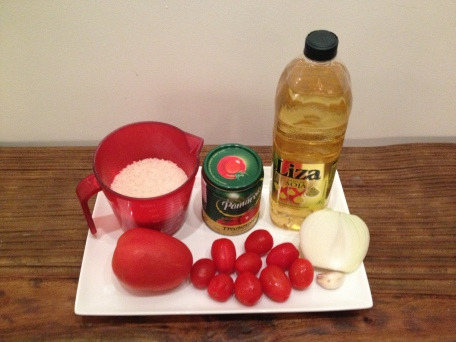 arroz com tomate ingredientes