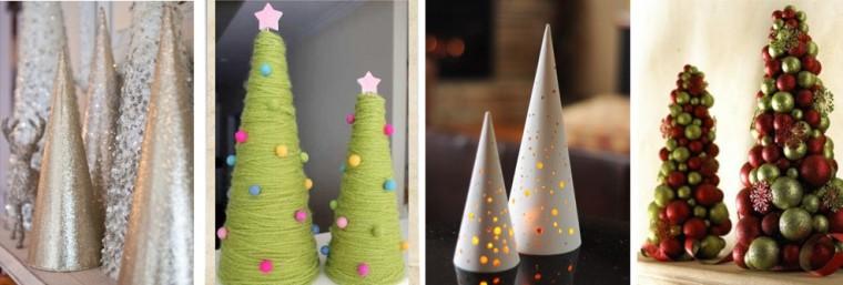 árvores com cone de Papel